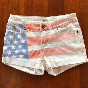 BDG American Flag Shorts